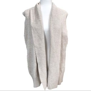 GAP Sleeveless Open Front Cardigan Sweater Sz XL